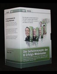 Die Geheimrezepte der 8 Erfolgs-Webmaster DVD-Seminar